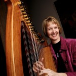 Photo of Tami Briggs with Folk Harp